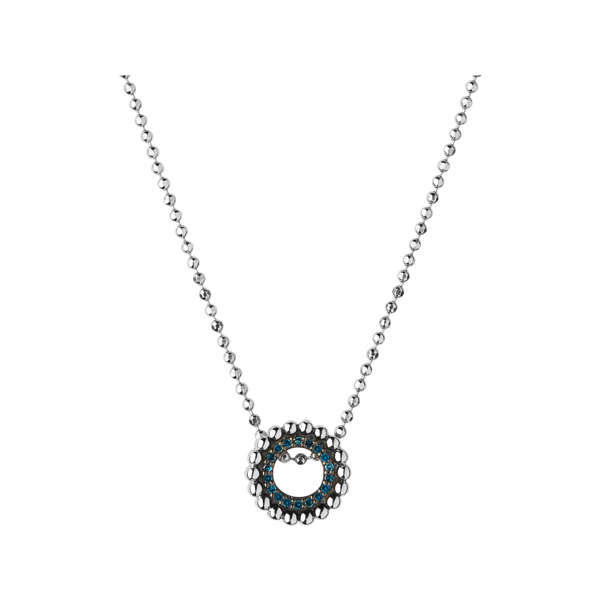 Effervescence sterling silver blue diamond mini necklace effervescence sterling silver amp blue diamond mini necklace hires mozeypictures Choice Image