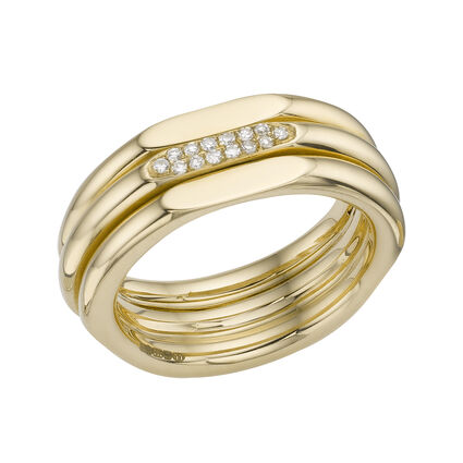 20/20 Classic 18kt Yellow Gold & Diamond Ring, , hires