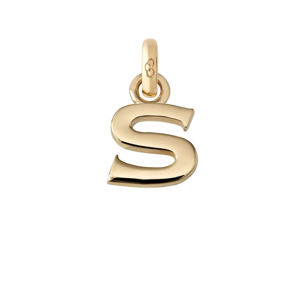 18kt Yellow Gold Letter S Charm, , hires