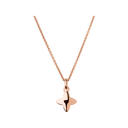 Splendour 18kt Rose Gold Vermeil Four-Point Star Necklace, , hires