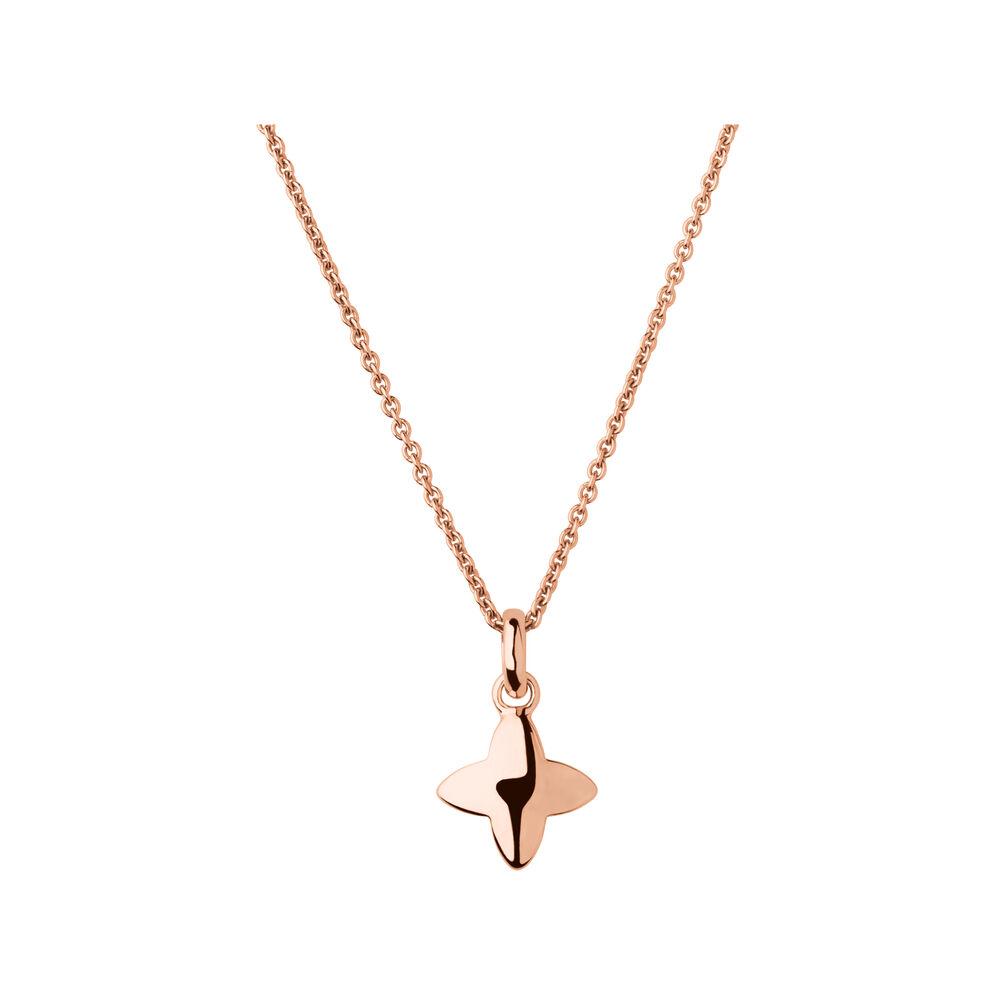 Splendour 18kt Rose Gold Vermeil Four-Point Star Necklace, , hires