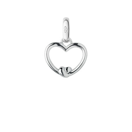 Sterling Silver Tie the Knot Heart Charm, , hires