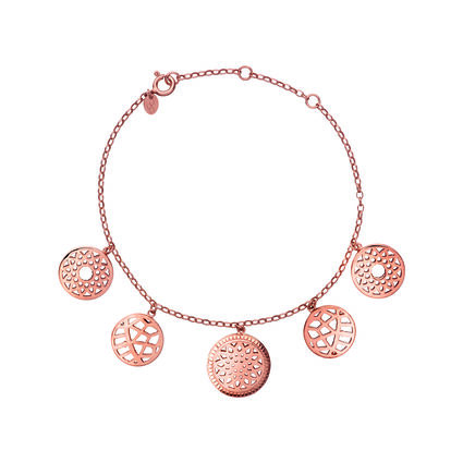 Timeless 18K Rose Gold Vermeil Coin Bracelet, , hires