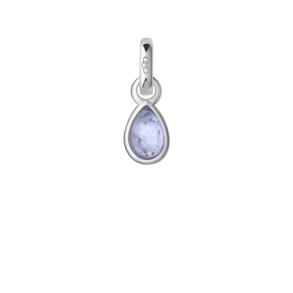 Tanzanite & Sterling Silver December Mini Birthstone Charm, , hires