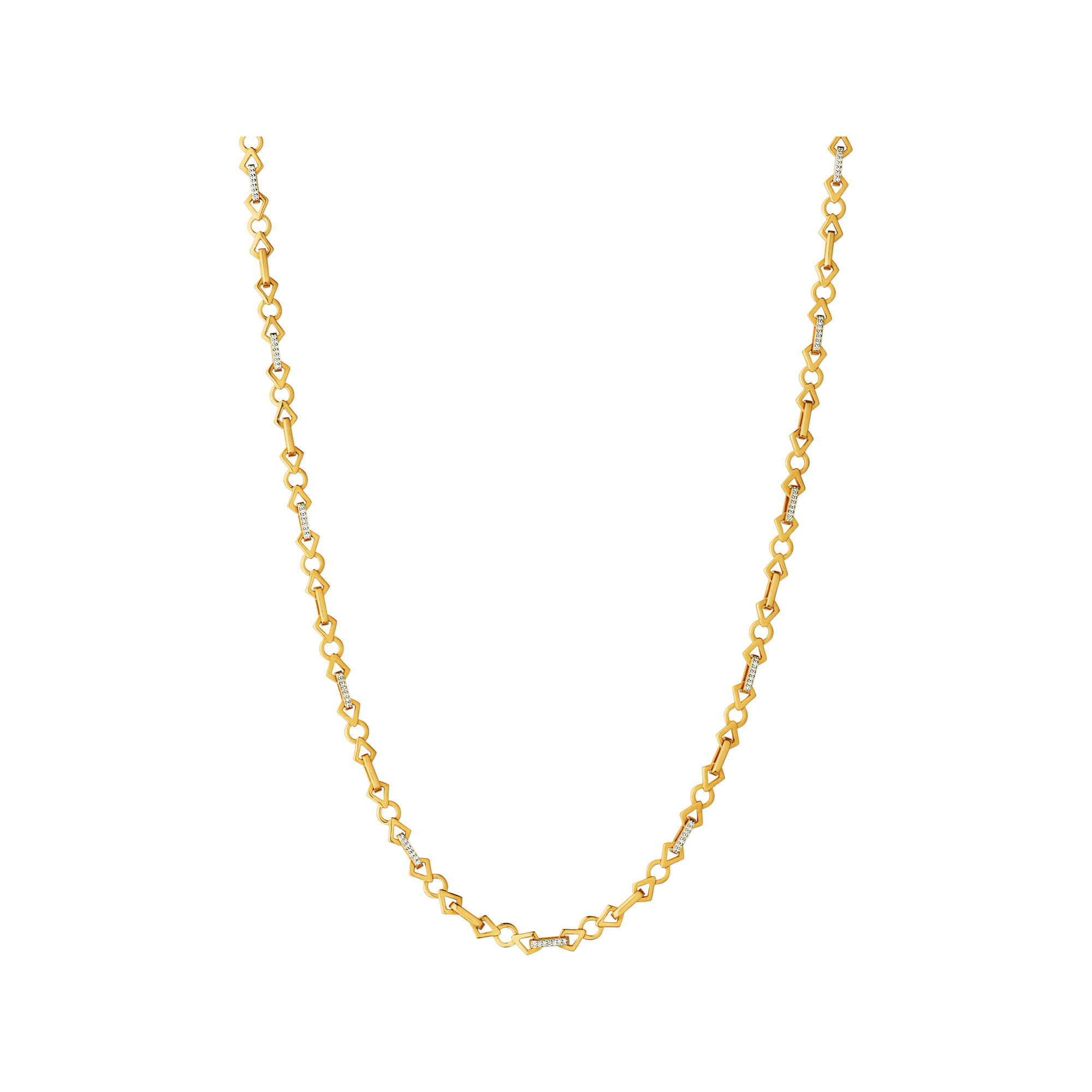 yet necklace link elegant add simple gold a necklaces ladies yellow new open chain bonded