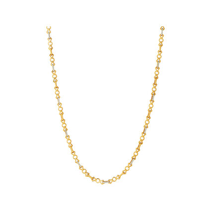 Timeless 18kt Gold & Diamond Chain Necklace, , hires