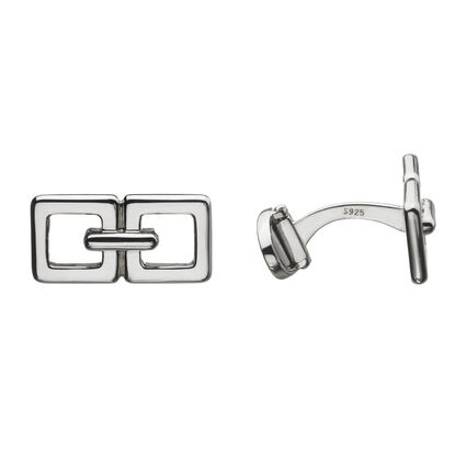 Square Link T-Bar Cufflinks, , hires