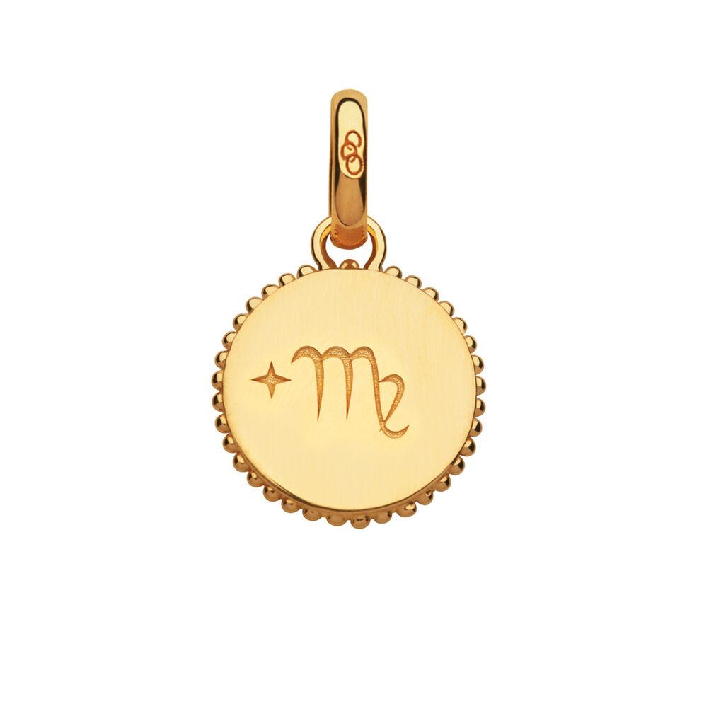 18ct Yellow Gold Vermeil Virgo Zodiac Charm, , hires