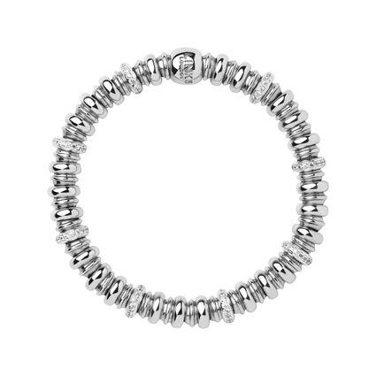 Sweetheart Sterling Silver & White Topaz Bracelet, , hires