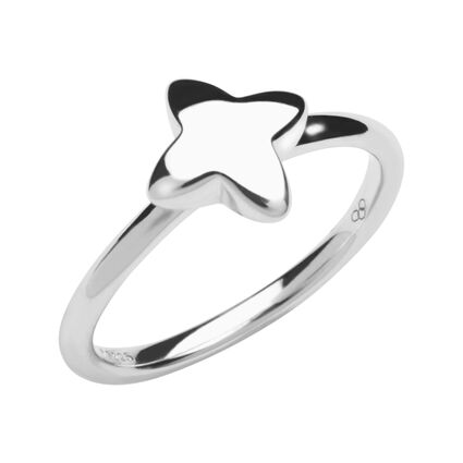 Splendour Sterling Silver Four-Point Star Ring, , hires