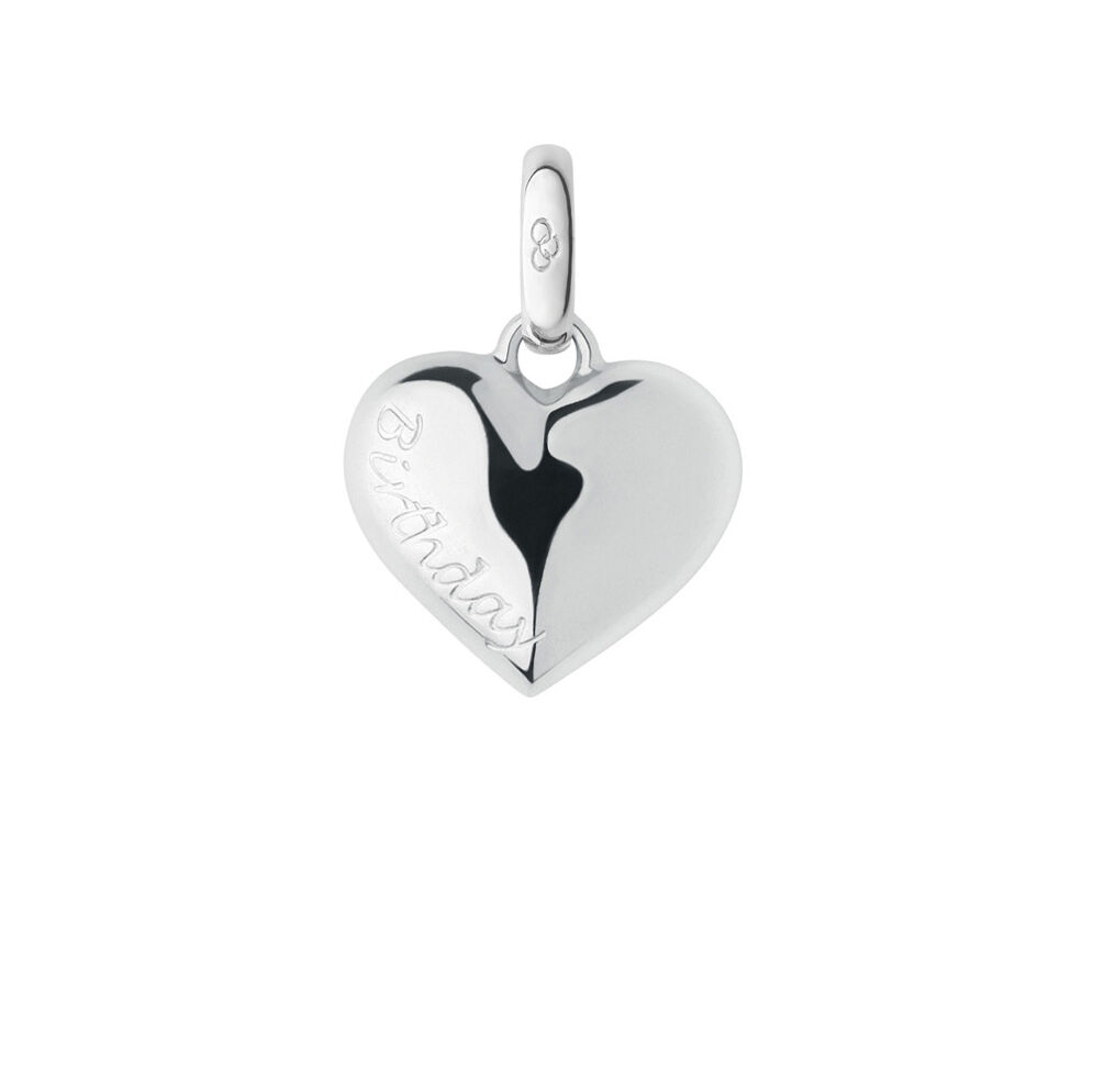 Keepsakes Sterling Silver Birthday Heart Charm, , hires