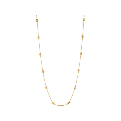 Essentials 18kt Yellow Gold Vermeil Beaded Chain Necklace 60cm, , hires