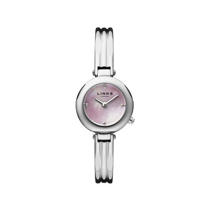 20/20 Pink MOP Dial Watch, , hires