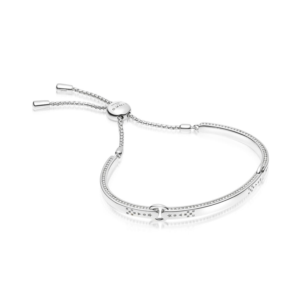 Ascot Narrative Sterling Silver Bracelet, , hires