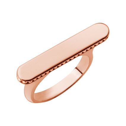 Narrative 18ct Rose Gold Vermeil Long Ring, , hires