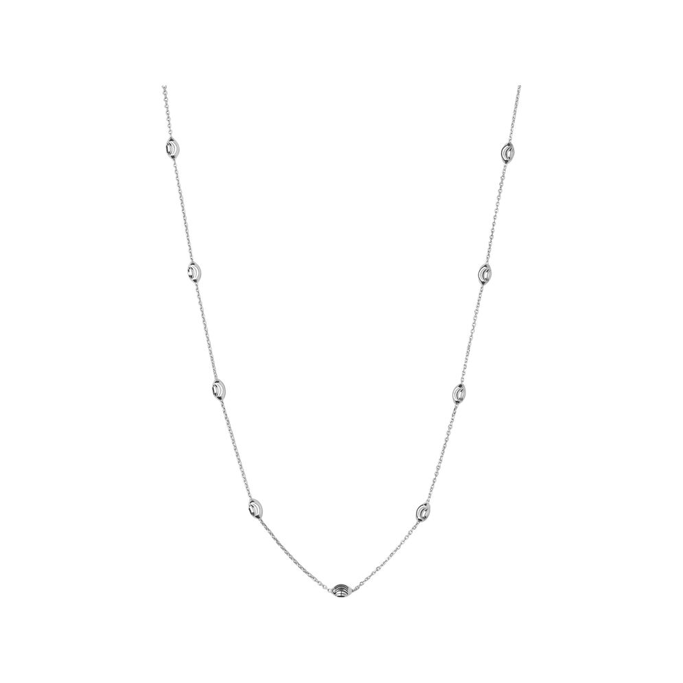 Essentials Sterling Silver Beaded Chain 60cm, , hires