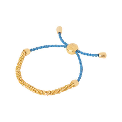 Effervescence XS Yellow Gold Vermeil & Blue Cord Bracelet, , hires