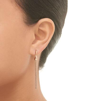 Essentials 18kt Rose Gold Vermeil Silk Row Earrings, , hires