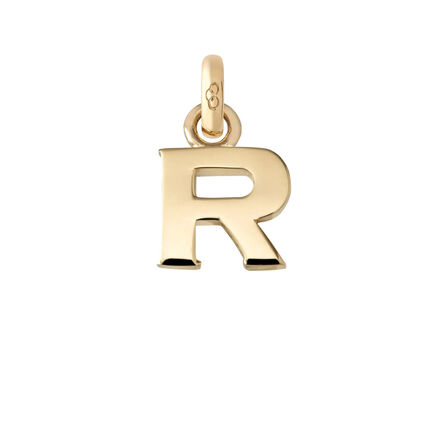 18kt Yellow Gold R Charm, , hires