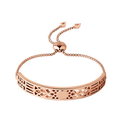Timeless 18kt Rose Gold Vermeil Toggle Bracelet, , hires