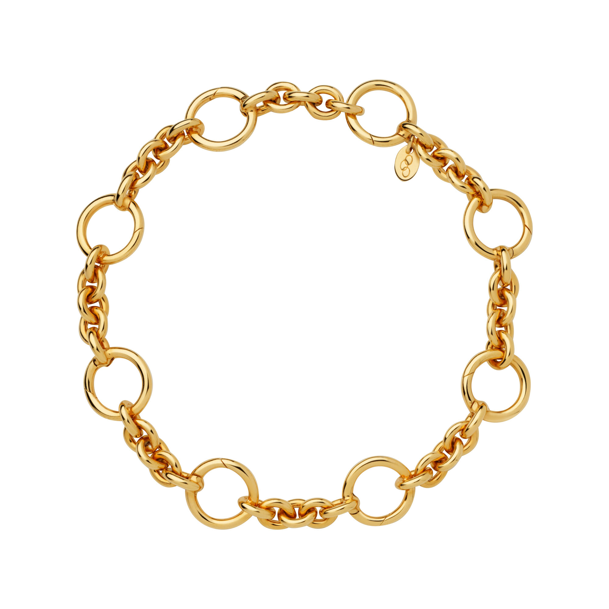 puff products mariner anklet overlay gold inches