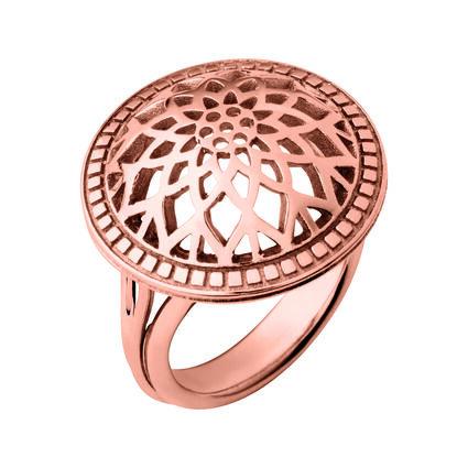 Timeless 18kt Rose Gold Vermeil Domed Ring, , hires