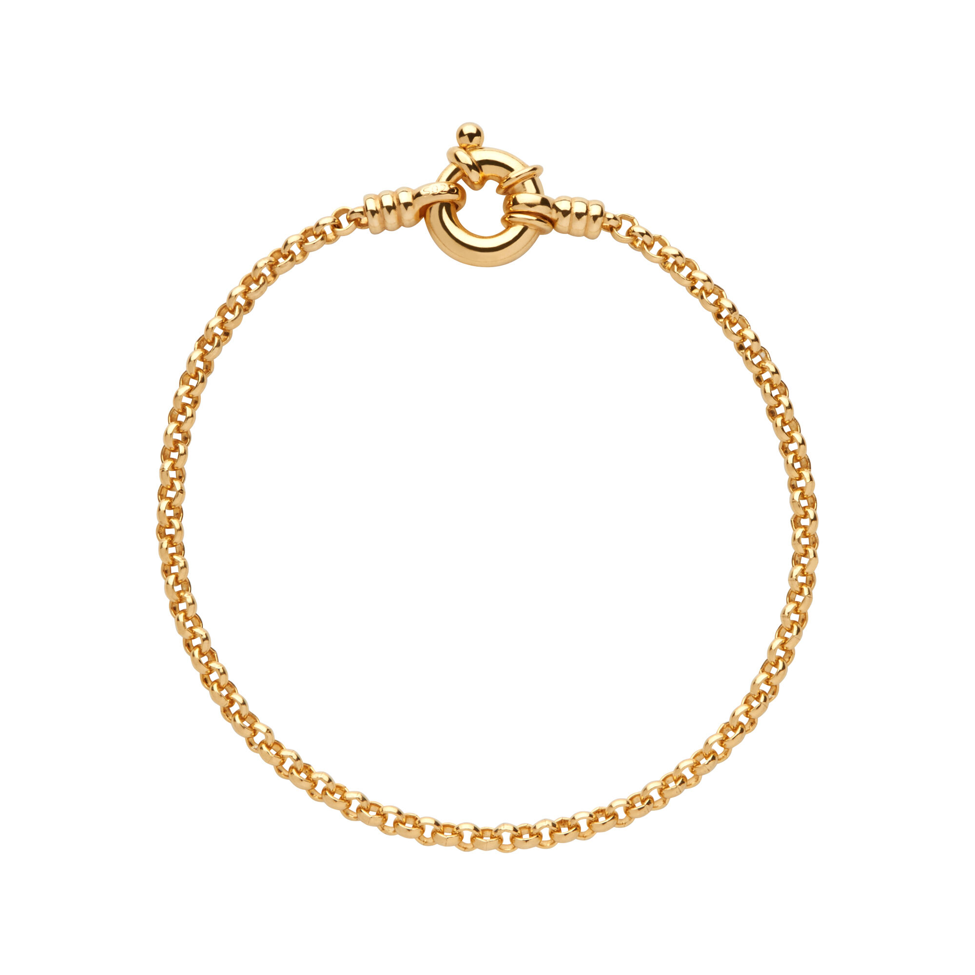 of capture charm gold bracelet yellow anklet vermeil gb en links london hires