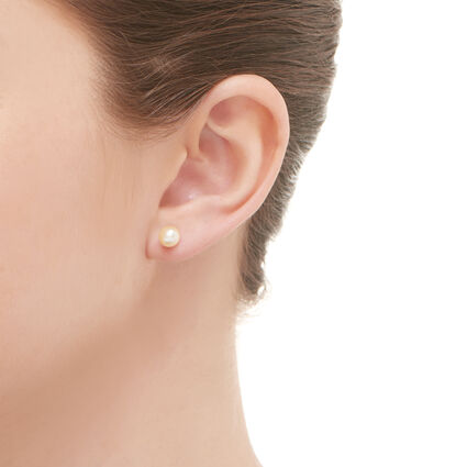 Effervescence Pearl White Earrings, , hires