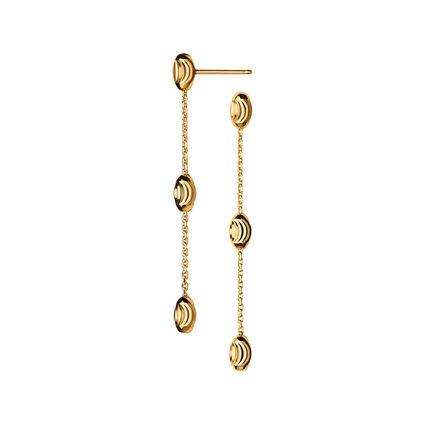 Essentials 18kt Gold Vermeil Beaded Long Earrings, , hires
