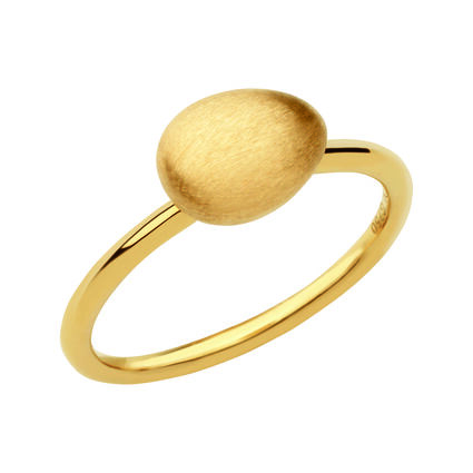 Hope 18kt Yellow Gold Satin Ring, , hires