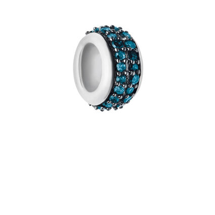 Sweetie Sterling Silver & Blue Diamond Pave Bead, , hires