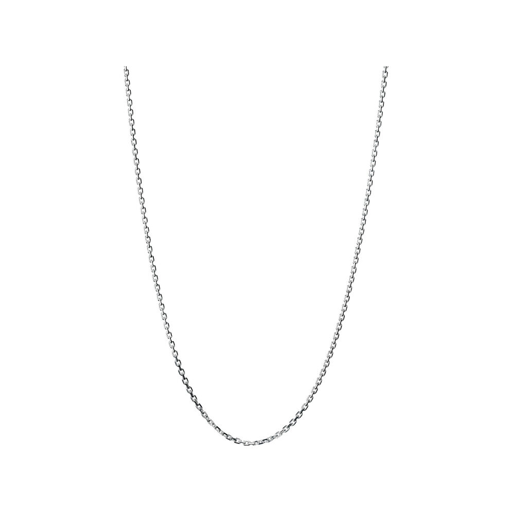 Essentials Sterling Silver 1.2mm Cable Chain 45cm, , hires