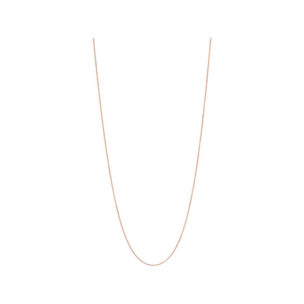 Essentials Rose Gold Vermeil 1.5mm Cable Chain 60cm, , hires