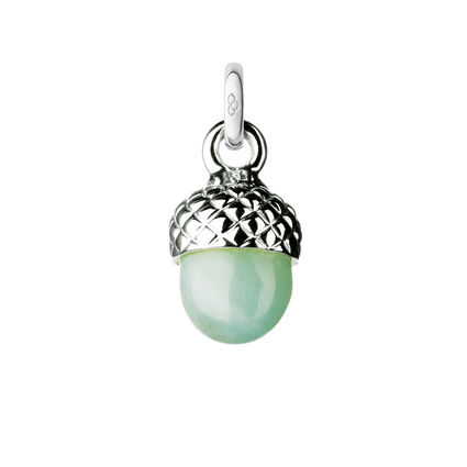 Love Note Sterling Silver & Amazonite Acorn Charm, , hires