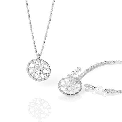 Dream Catcher Sterling Silver Necklace & Bracelet Set, , hires