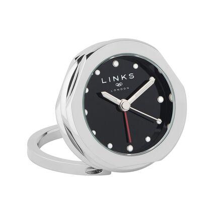 20/20 Stainless Steel Multi Black Dial Alarm Clock, , hires