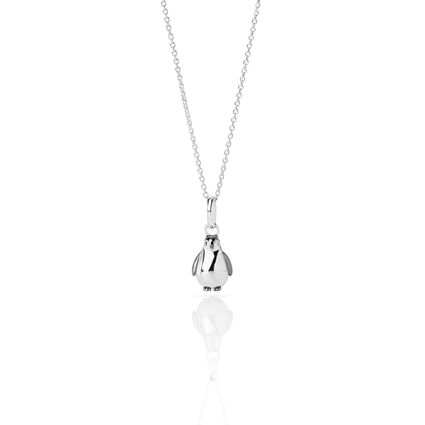 Essentials Sterling Silver 45cm Chain & Penguin Charm, , hires