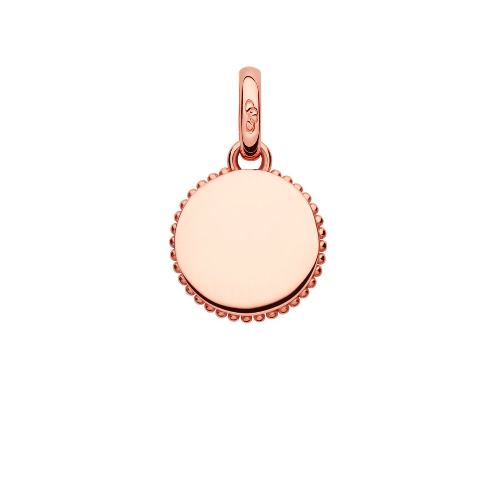 Narrative 18kt Rose Gold Vermeil Mini Disc Charm, , hires