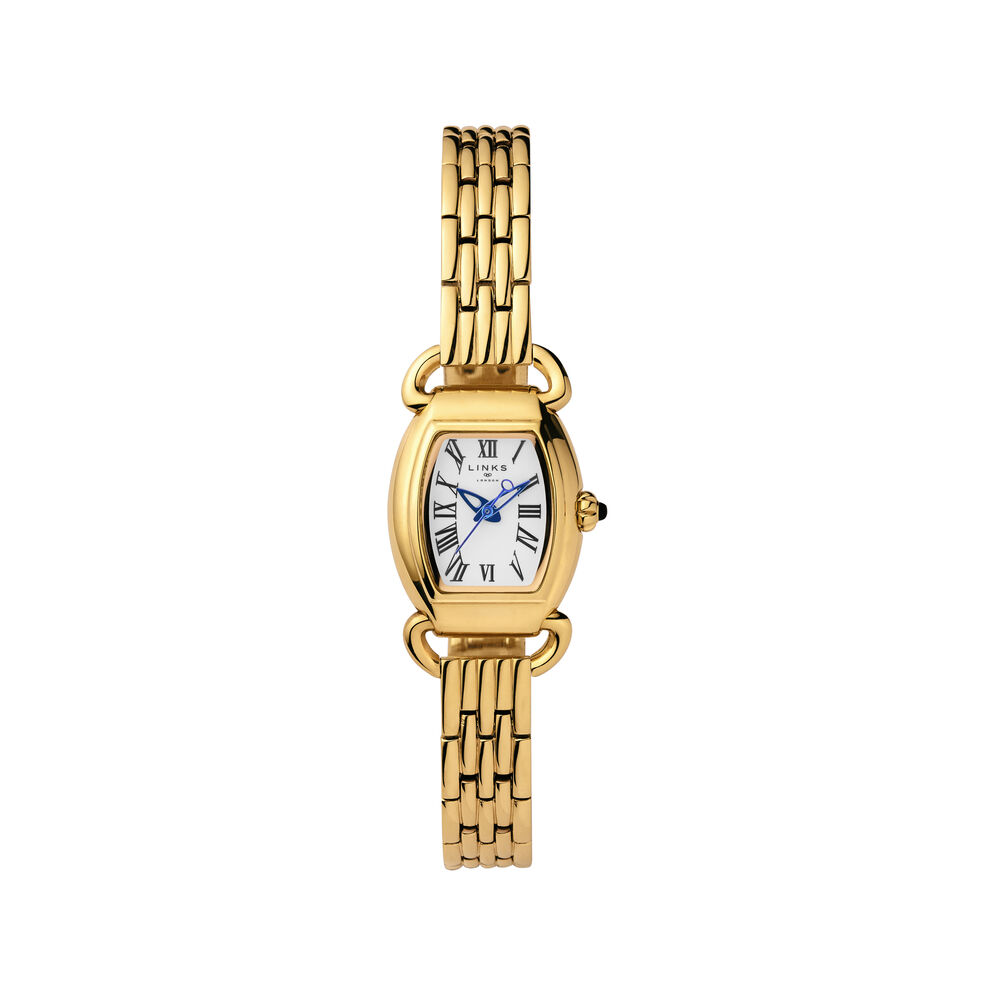 Driver Mini Tonneau Gold Plate Bracelet Watch, , hires