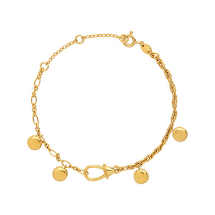 Amulet 18kt Yellow Gold Carabiner Bracelet, , hires