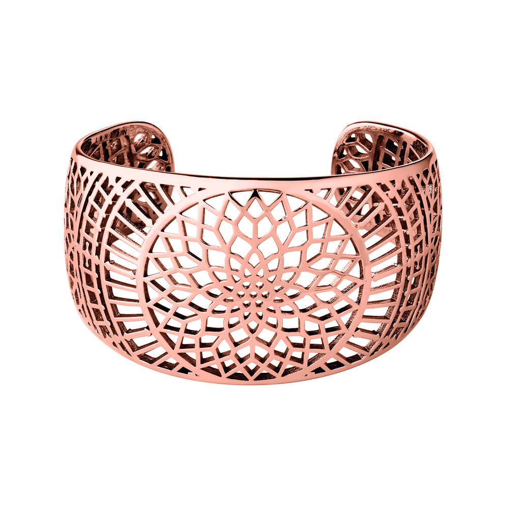 Timeless 18ct Rose Gold Vermeil Cuff, , hires