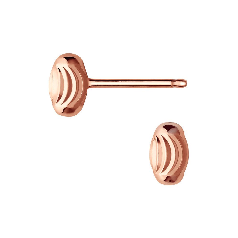 Essentials 18kt Rose Gold Vermeil Beaded Stud Earrings, , hires