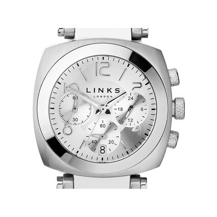Brompton Stainless Steel Case Silver Dial Chronograph Watch, , hires
