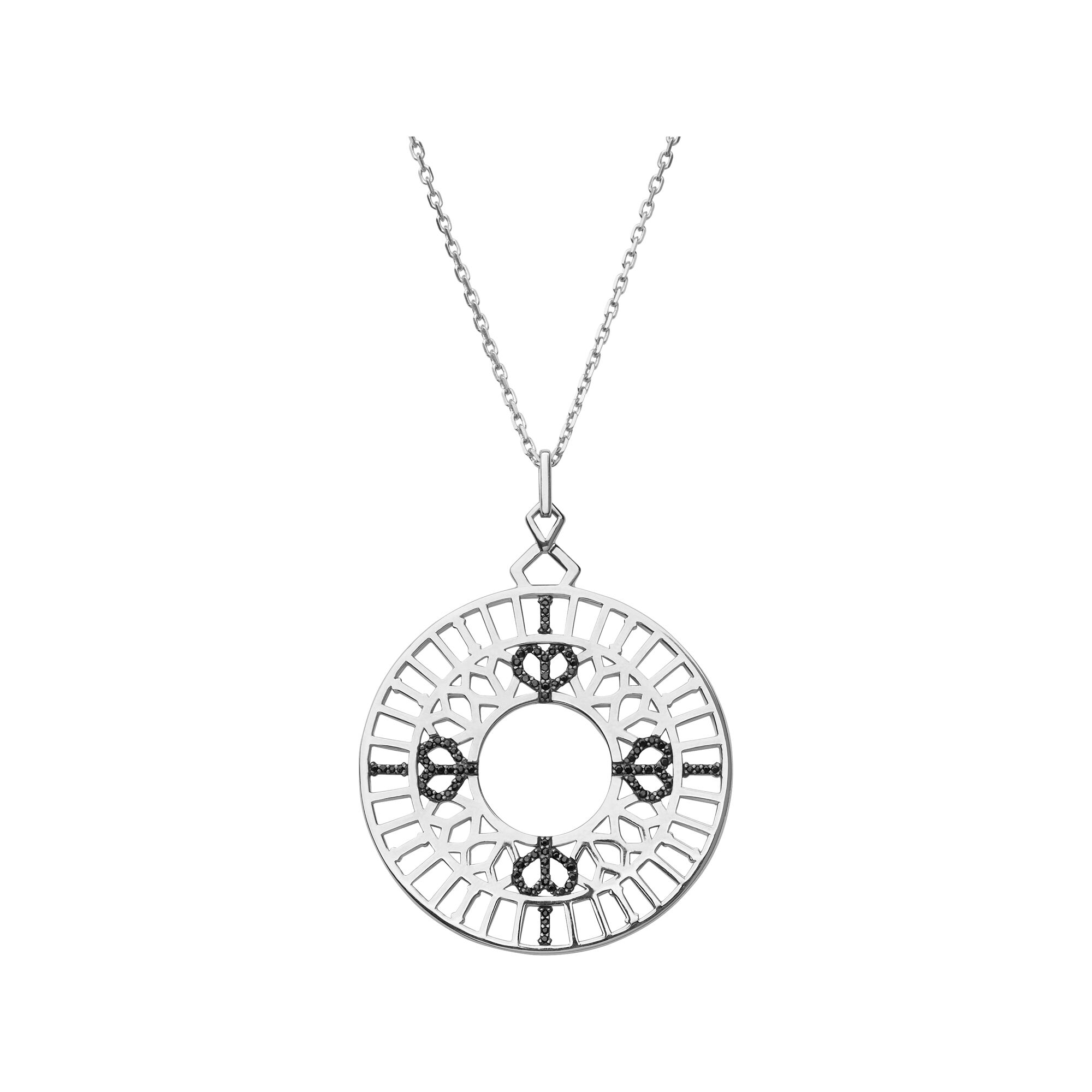 necklace gold keith silver jack and sterling yellow in compass pendant