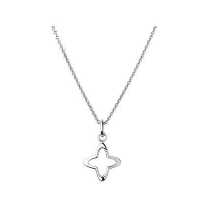 Splendour Sterling Silver Open Four-Point Star Necklace, , hires