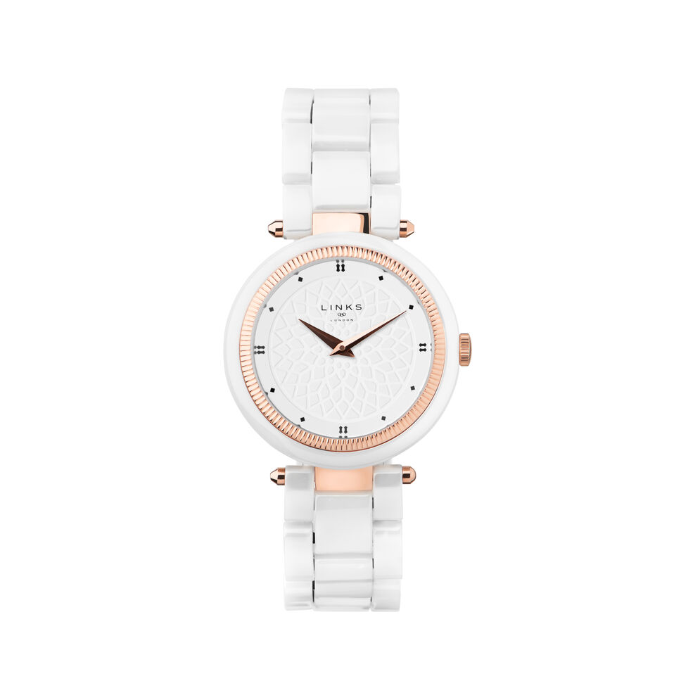 Timeless White Ceramic Watch, , hires