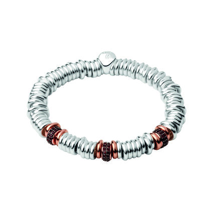 Sweetie 25 Years 18kt Rose Gold & Garnet Bead Bracelet, , hires