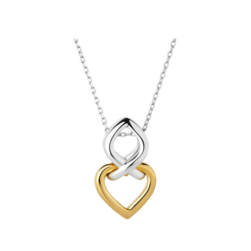 18K Yellow Gold Vermeil & Sterling Silver Infinite Love Necklace, , hires