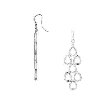 Hope Sterling Silver & White Topaz Chandelier Earrings, , hires