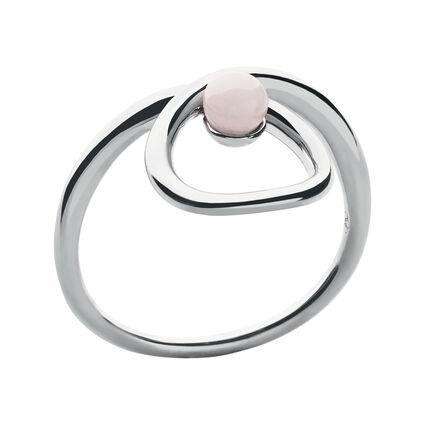 Serpentine Sterling Silver & Pink Opal Gemstone Ring, , hires
